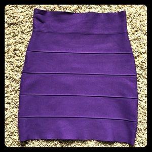 BCBG Simone Bandage Skirt Purple S